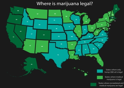 United States-Where is mj legal