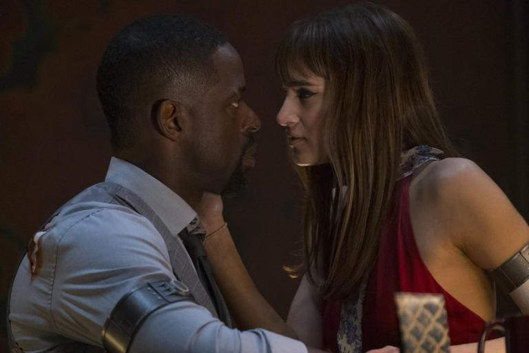 Sterling K. Brown and Sofia Boutella  in Hotel Artemis (2018)